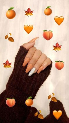 Acrylic nails - coffin style are in the right place about simple nail ideas Here we offer you the most beautiful pictures about the nail ideas pastel you are looking for. When you examine the Acrylic nails - coffin style Orange Acrylic Nails, Simple Acrylic Nails, Fall Acrylic Nails, Acrylic Nail Designs, Nail Art Designs, Holloween Nails, Halloween Acrylic Nails, Wallpaper Tumbr, Arylic Nails