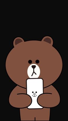 Lines Wallpaper, Brown Wallpaper, Bear Wallpaper, Cute Wallpaper Backgrounds, Animal Wallpaper, Mickey Mouse Wallpaper, Cartoon Wallpaper Iphone, Kawaii Wallpaper, Cute Cartoon Wallpapers