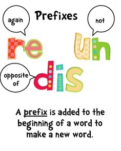 Prefix and Suffix Freebies