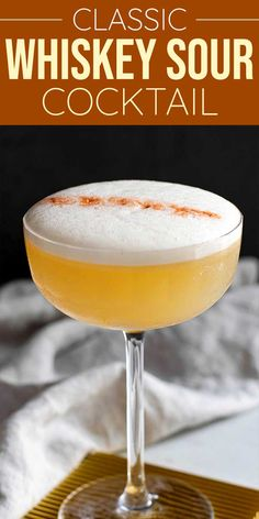 A well-made Whiskey Sour—made with whiskey, lemon juice, and simple syrup—is a drink worth having, especially when you add an egg white (yes!) and a dash of Angostura bitters. #whiskeysour #whiskeycocktails #cocktail #simplyrecipes