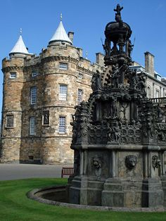 Holyrood Palace stands at the bottom of the Royal Mile in Edinburgh, at the opposite end of Edinburgh Castle.  Edinburgh,  SCOTLAND.