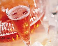 Cranberry black cherry champagne punch