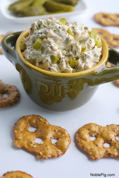 The perfect mouth-puckering dip for the dill pickle lover from NoblePig.com.