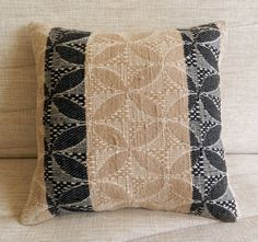 """Vintage Turkish Embroidered Cecim Rug Pillow Cover Cushion Cover Decorative Pillow 16"""" x 16"""" inches 40cm Cushion Accent Pillow Throw Pillow"""