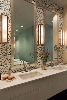 I like the lighting in this one. We would have one light on either side of a larger mirror.........How proper lighting can transform your bathroom