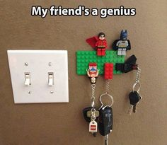 Never lose your keys. I want to do this in my apartment!!
