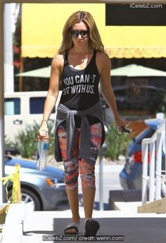 Ashley Tisdale  leaving pilates http://icelebz.com/events/ashley_tisdale_leaving_pilates/photo1.html
