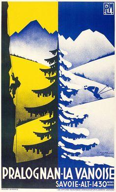 ✨ Gaston Gorde (1908-1995) - Pralognan-la-Vanoise. PLM, 1936