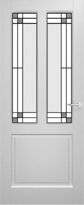 2adore binnendeur Gladiolus met glas-in-lood Vanille 12 jaar garantie