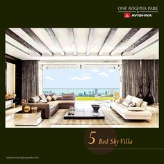 Comfort meets class in a single canvas. Experience the best of everything you desire.  #OneAvighnaPark #5BedSkyVillas #View #Mumbai #Elegance
