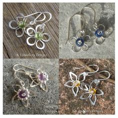 Wire Flowers (4 variations) | JewelryLessons.com