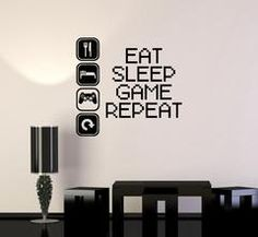 Vinyl Decal Gaming Video Game Gamer Lifestyle Quote Wall Sticker Mural (ig2753)