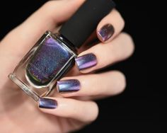 ILNP - Peace (H) - Blue, Purple, Fuchsia, Pink, Gold Ultra Chrome Color Shifting Holographic Nail Polish