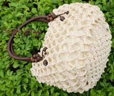 Bag Macrame Handmade Medium size Weaving Bag Ivory by CraftingMode Natural Women, Macrame Purse, Spiral Pattern, Art Bag, Micro Macrame, Handmade Bags, Basket Weaving, Etsy, Rectangle Shape