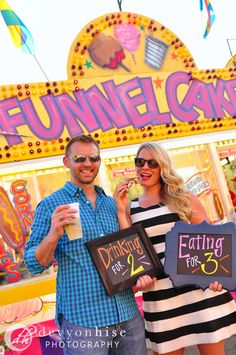 Twin pregnancy announcement at the State Fair
