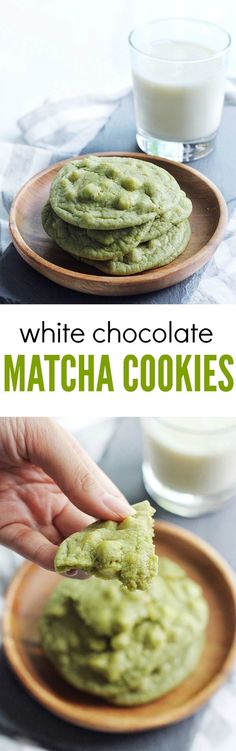 Delicious chewy white chocolate matcha cookies. Perfect for a treat with a twist!