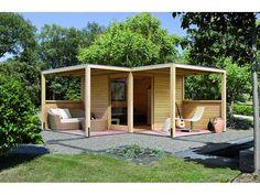 Holz-Gartenhaus Bryggen Eck Natur 320 cm x 320 cm