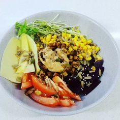 Cooked by Sri Tempeh, Cobb Salad, Mexican, Foods, Live, Cooking, Food Food, Kitchen, Food Items