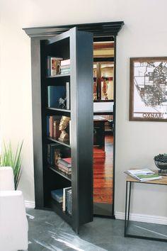 Secret Bookcase Door Buy Now Secure Hidden Hidden Door Store Hidden Door Bookcase, Room Design, House, Home, Room Doors, Attic Rooms, Store Door, Bookcase Door, Bookshelf Door
