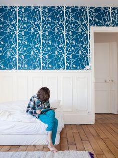 papier peint vert bambou pour une ambiance v g tale en trompe l 39 oeil chez leroy merlin 14. Black Bedroom Furniture Sets. Home Design Ideas