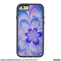 pretty purple floral abstract case