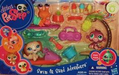 LPS Swim & Sand Adventures Lps Littlest Pet Shop, Little Pet Shop Toys, Girl Toys Age 5, Toys For Girls, Monster High Mermaid, Lps Sets, Lps Accessories, Baby Doll Nursery, Doll Food