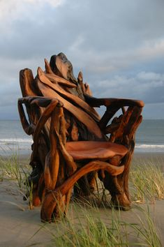 Chair by Jeffro Uitto, from Knock on Wood, on the Washington coast.