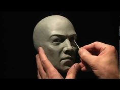 """part 3.  In this head sculpture, I'm using 1/2"""" PVC pipes as armature and using some foam sheets as filler. I'm using Roma Plastilina #2 Gray Green oil based clay. I'm also using laser line for measuring and indicating center-line. I learned the use of the lase from a YouTube video by """"BaileyBlade"""". Check his channel for more useful instructions."""