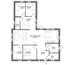 Ekonomen 132 | Anebyhusgruppen Tiny House, Villa, Floor Plans, House Design, Architecture, Houses, Home Decor, Build House, Arquitetura