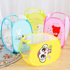 Cartoon Printed Folding Basket Price: 9.95 & FREE Shipping #onlineshopping Baby Toys, Kids Toys, Large Toy Storage, Folding Laundry, Kids Room Organization, Cartoon Kids, Storage Baskets, Laundry Basket, Sorting