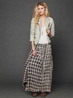 Free People Janus Plaid Maxi Skirt, $168.00