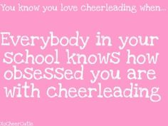 Hah! This is so heather, and everyone on my Facebook knows I'm an obsessed cheer mom! LOL