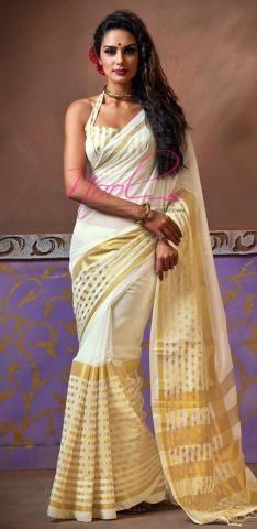 http://www.nool.co.in/product/sarees/namo-cotton-sari-plain-white-kerala-bridal-wear-bz4400d69506