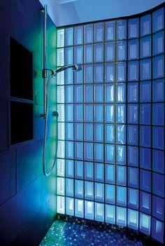 Blue Lumilum bathroom with LED light. .lumilum.com & 137 best LED Lighting for Bathrooms images on Pinterest | Bathroom ...