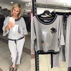 Шикарный костюм4 Sporty Outfits, Trendy Outfits, Sport Fashion, Look Fashion, Suits For Women, Clothes For Women, Athleisure Wear, Over 50 Womens Fashion, Sport Chic
