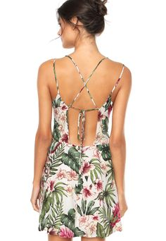 Vestido FARM Tropical Off White - Marca FARM