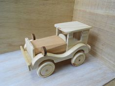 We love handmade wooden toys like this. An awesome photography prop for little boys! Woodworking Toys, Easy Woodworking Projects, Wooden Spoon Carving, Wooden Toy Trucks, Traditional Toys, Handmade Wooden Toys, Small Wood Projects, Wood Toys, Vintage Toys