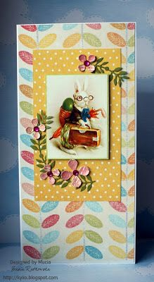 easter bunny card by Mucia