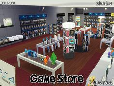 Videogames Store - to Conversion / Sims 4 Custom Content Lotes The Sims 4, My Sims, Sims 4 Mods, Sims 2 Games, Sims 4 Stories, Sims 4 Clutter, Sims 4 Characters, Sims 4 Toddler, The Sims 4 Download