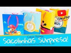 Como fazer Sacolinhas Surpresa - Fazendo a Nossa Festa - YouTube