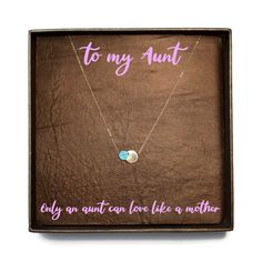 Items similar to To My Aunt Gift / A lovely Gift For Aunt / Appreciation Gift / Aunt Birthday Gift / Aunt Necklace on Etsy Aunt Birthday, Birthday Gifts, Aunt Gifts, Appreciation Gifts, Leather Earrings, Beautiful Necklaces, Real Leather, Necklace Lengths, Etsy Shop