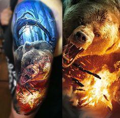 Amazing tattoo by @laky_tattoo
