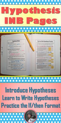 Use these interactive notebook pages in your middle school science class to introduce hypotheses and practice using the correct format