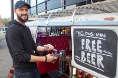 Free music, great beer: Ben pours a pint from one of The Dub Inn's beer taps