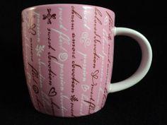 Starbucks 2006 Sweet Devotion Flirt Amore Heart Pink White Coffee Mug Cup