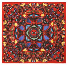 scarf : Alexander McQueen and Damien Hirst collaboration