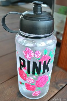 It's essential to take a water bottle to school and why not get this Victoria secret one that looks gorgeous