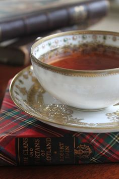 Tartan & tea… and one of the most perfect teacups I have ever seen! (source: pinterest.com)