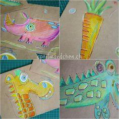 zeichnen2 Dinosaur Stuffed Animal, Toys, Crafts, Animals, Fall Season, Draw, Animaux, Animales, Dieren