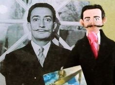 Salvador Dali Doll MIniature Artist by UneekDollDesigns on Etsy, $43.00